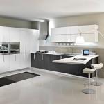 Tủ bếp nhôm chữ I cao cấp   SGAT02